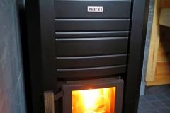Feuer im Saunaofen